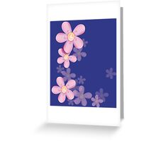 Cute pink flowers Greeting Card