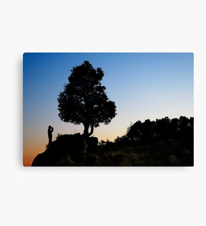 The Man and the Tree Canvas Print