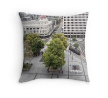Chess at Cathedral Square Throw Pillow