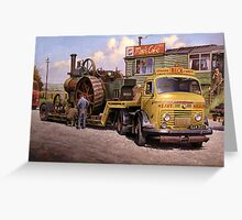 May's transport cafe. Greeting Card