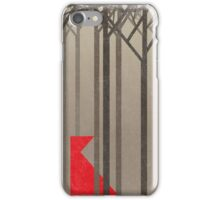 Minimal Little Red riding hood iPhone Case/Skin