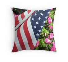 FLAG & FLOWES Throw Pillow