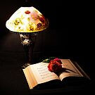 Lamp And Bible by Rick  Friedle