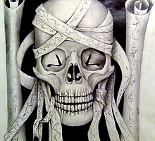 """skull no2 from the skull series"" (title to be added upon completion) by JP100"