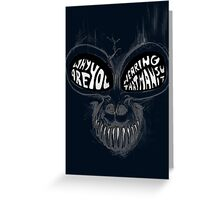 Donnie Darko: Questioning Frank's Bunny Suit Greeting Card
