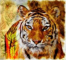 Painted Tigers by Darlene Lankford Honeycutt