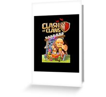 clash of clans Greeting Card