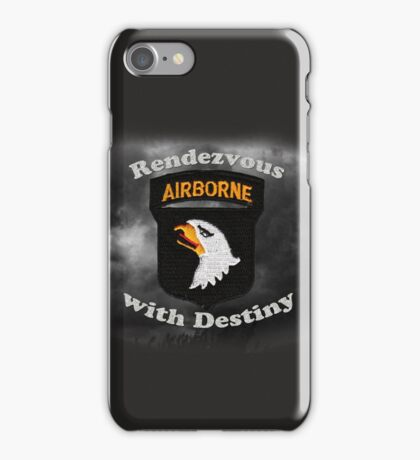 101st Airborne Division - Rendezvous with Destiny iPhone Case/Skin