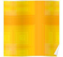 Spring-Summer Colour Plaid (Yellow-Orange) Poster