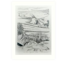 The View from Aggletree. Art Print