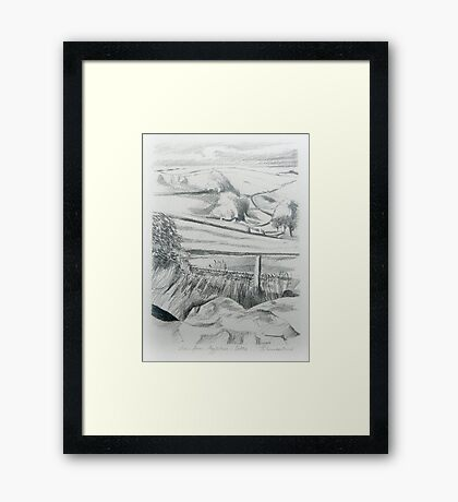 The View from Aggletree. Framed Print