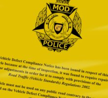 The Mod Police are looking for You! Sticker