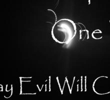 Rise Against Evil Sticker