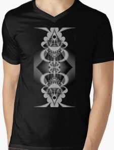 Reflection in B&W Mens V-Neck T-Shirt