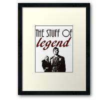 """The stuff of legend."" - 10th Doctor Framed Print"