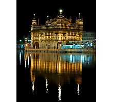 Golden Temple at Night -I Photographic Print