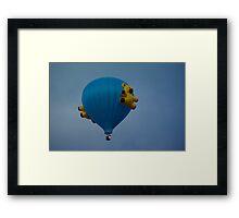 Teddies on Blue Framed Print