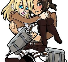 AoT Christa + Ymir sticker by SoloAzume