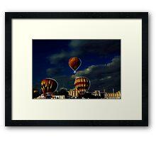 Balloons in Fractalius Framed Print