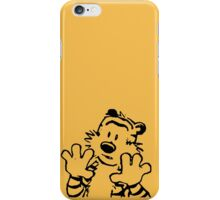 calvin and hobbes: woah now iPhone Case/Skin
