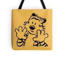 calvin and hobbes: woah now Tote Bag