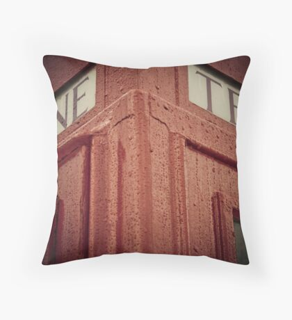 Red Telephone Booth Throw Pillow
