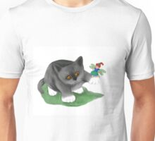 Fairy Sits on Cat Paw Unisex T-Shirt