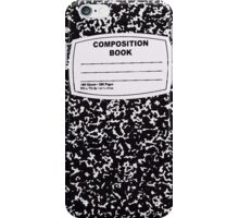 Black Composition Notebook iPhone Case/Skin