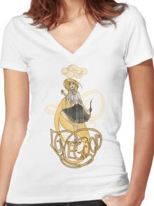 Luna Lovegood: Madness is Golden Women's Fitted V-Neck T-Shirt