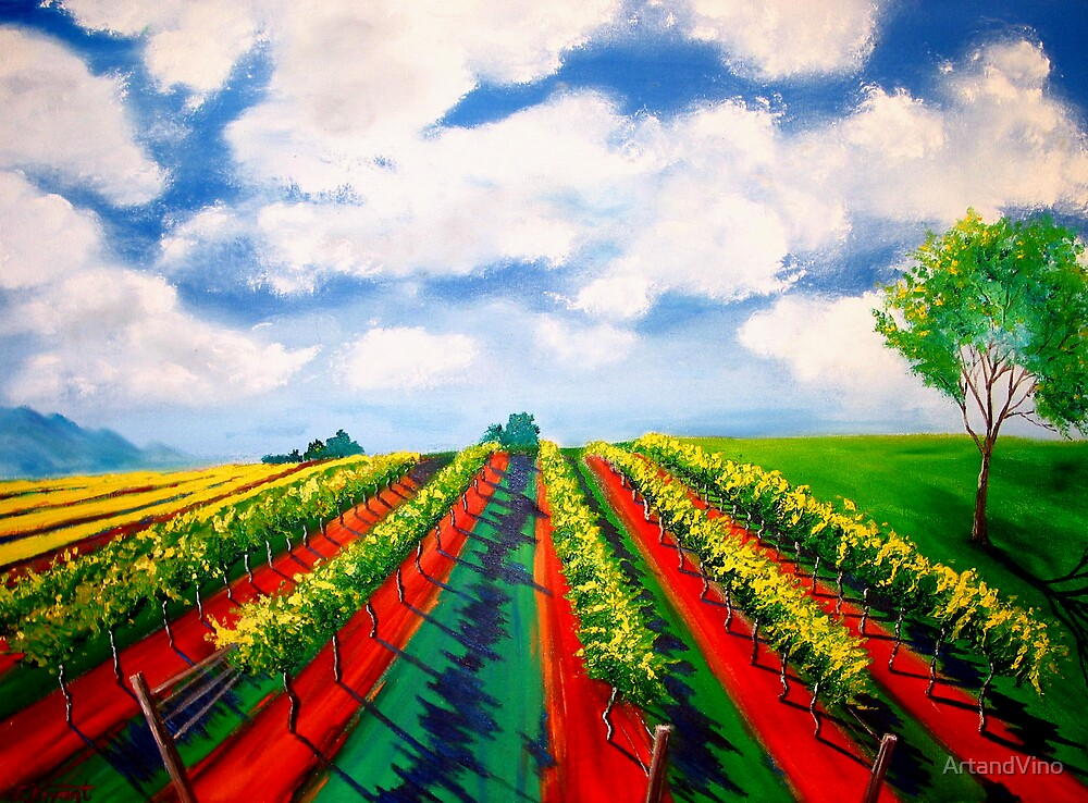 Golden Vines by ArtandVino
