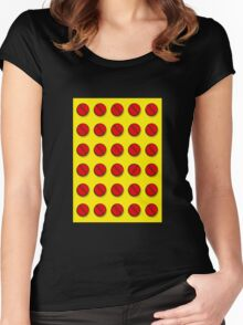 Red pills pattern Women's Fitted Scoop T-Shirt