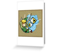 Zelda Wind Waker Wind's Requiem  Greeting Card