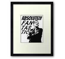 """""""Absolutely Fantastic."""" -9th Doctor Framed Print"""