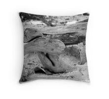 Duck Wood Throw Pillow