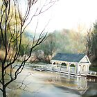 "Blackberry Farm Hotel Bass Pond Boat House ""Pretty Place"" by JeffeeArt4u"