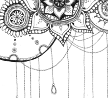 Mandala Flower Design Sticker