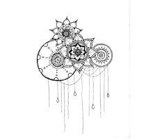 Mandala Flower Design Photographic Print