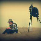 Artist on the Beach by lizwaltzes