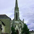 Church in a Small Rural Brittany Town by Buckwhite