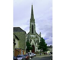 Church in a Small Rural Brittany Town Photographic Print