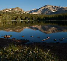 Reflections of Mount Audubon  by Pamela Hubbard