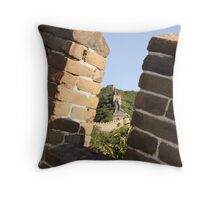 Mutianyu to Jiankuo Great Wall Throw Pillow