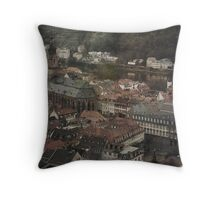 Faded Memories-Heidelberg Throw Pillow