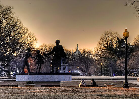 Sunset on Capitol Hill by Jane Brack
