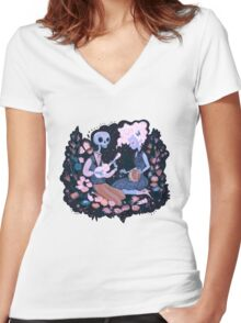 Rhythm of Grief (Day of the Dead) Women's Fitted V-Neck T-Shirt