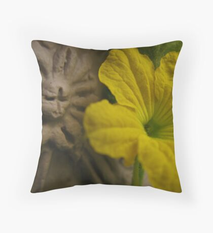 Just Another Cucumber Blossom Throw Pillow