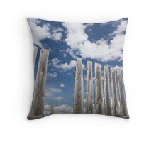 Big Alberta Prairie Sky Throw Pillow