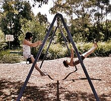 swingset friendship by joannemaree