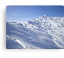 Snow blue sun Canvas Print
