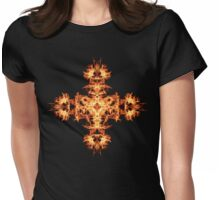 Energetic Geometry -  Phoenix Sigil Cross of Fire Womens Fitted T-Shirt